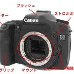カメラのボディの各部名称と機能について、デジタルカメラ、フィルムカメラを例に解説